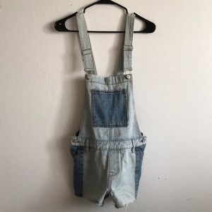 PacSun Two Tone Overall Shorts
